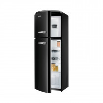 gorenje RF60309 173.7cm Retro Freestanding Black Left Hinge Fridge Freezer