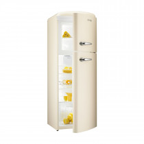 gorenje RF60309 173.7cm Retro Freestanding Champagne Right Hinge Fridge Freezer
