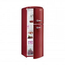 gorenje RF60309 173.7cm Retro Freestanding Metallic Bordeaux Right Hinge Fridge Freezer