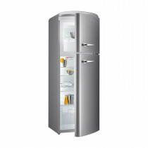 gorenje RF60309 173.7cm Retro Freestanding Inox Silver Fridge Freezer