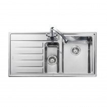 Rangemaster Rockford RK9852L/ 1.5 Bowl Stainless Steel Sink Left