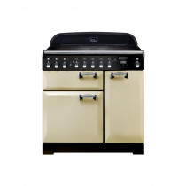 Rangemaster Elan Deluxe 90 Induction Cream Range Cooker ELA90EICR/ 118410
