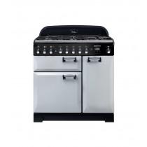 Rangemaster Elan Deluxe 90 Dual Fuel Royal Pearl Range Cooker ELA90DFFRP/ 118120