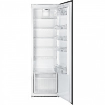 Smeg Integrated In Column Larder Black Refrigerator S7323LFEP
