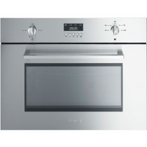Smeg SC445MX Cucina Stainless Steel Compact Microwave Oven