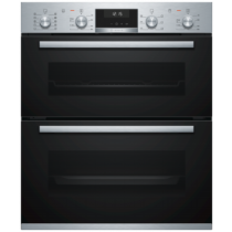 Bosch Serie 6 Built Under Brushed Steel Double Oven NBA5570S0B
