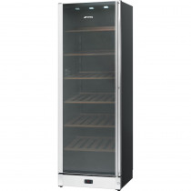 Smeg 60cm Classic Black & Stainless Steel Wine Cooler SCV115AS