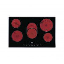 Smeg SE2773TC2 77 Black Glass Ceramic Hob