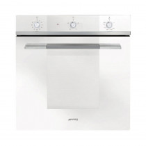 Smeg SF102GVB Linea Built-In 60cm White Single Gas Oven