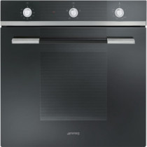Smeg SF102GVN Linea Built-In 60cm Black Single Gas Oven