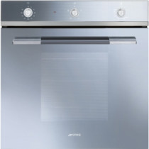 Smeg SF102GVS Linea Built-In 60cm Silver Single Gas Oven