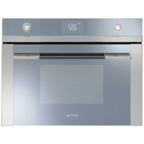 Smeg SF4120MC Linea Stainless Steel Compact Combination Microwave Oven