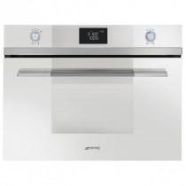 Smeg SF4120MCB Linea White Compact Combination Microwave Oven