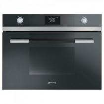 Smeg SF4120MCN Linea Black Compact Combination Microwave Oven