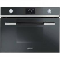Smeg SF4120MN Linea Black Compact Microwave Oven