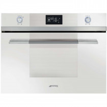 Smeg SF4120VCB Linea Built-In 45cm White Compact Combination Steam Oven