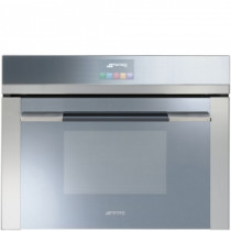 Smeg SF4140MC Linea Built-In 45cm Stainless Steel Compact Combination Microwave Oven