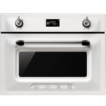 Smeg SF4920MCB Victoria White Compact Combination Microwave Oven