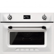 Smeg SF4920MCB1 Victoria White Compact Combination Microwave Oven