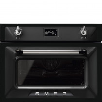 Smeg SF4920MCN1 Victoria Black Compact Combination Microwave Oven