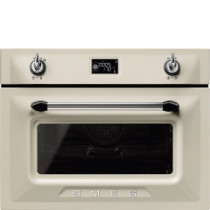 Smeg SF4920MCP1 Victoria Cream Compact Combination Microwave Oven