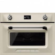 Smeg SF4920MCP1 Victoria Cream Compact Combination Microwave Oven