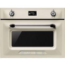 Smeg SF4920MCP Victoria Cream Compact Combination Microwave Oven