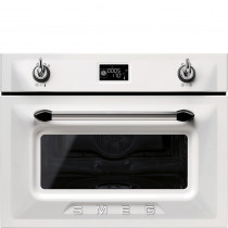Smeg Victoria 45cm White Compact Combination Steam Oven SF4920VCB