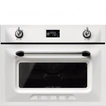 Smeg Victoria 60cm White Compact Combination Steam Oven SF4920VCB1
