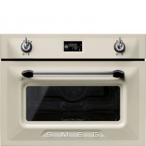 Smeg Victoria 45cm Cream Compact Combination Steam Oven SF4920VCP