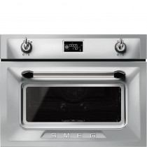 Smeg Victoria 45cm Stainless Steel Compact Combination Steam Oven SF4920VCX
