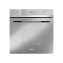 Smeg Linea Built-In Pyrolytic 60 Silver Glass Single Oven