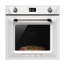 Smeg Victoria Built-In Pyrolytic 60 White Single Oven