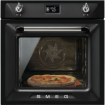 Smeg Victoria Built-In Pyrolytic 60 Black Multifunction Oven SFP6925NPZE1