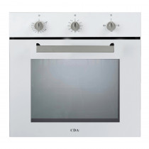 CDA Single Fanned White Gas Oven SG120