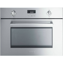 Smeg SC445MCX1 Cucina Stainless Steel Compact Combination Microwave Oven