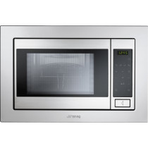 Smeg FME20TC3 Built-In Stainless Steel Microwave Oven