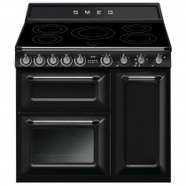 Smeg Victoria 90 Gloss Black Induction Range Cooker