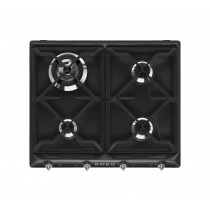 Smeg Victoria 60 Black Gas Hob