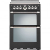 Stoves Sterling 600EI Black Electric Fanned Double Oven with Induction Hotplate