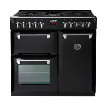 Stoves Richmond 900DFT Black 90 Dual Fuel Range Cooker