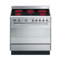 Smeg Concert 90 Stainless Steel Ceramic Single Cavity Range Cooker