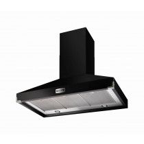 Falcon 900 Super Extract Black/Chrome Cooker Hood