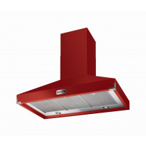 Falcon 900 Super Extract Cherry Red/Nickel Cooker Hood