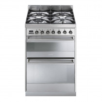 Smeg Symphony 60 Dual Fuel Stainless Steel Range Cooker