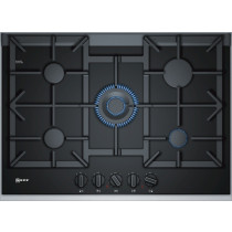 Neff N90 75cm Black Ceramic Glass Gas Hob T27TA69N0