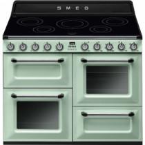 Smeg Victoria 110 Pastel Green Induction Range Cooker TR4110IX