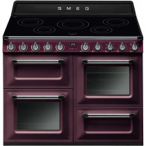 Smeg Victoria 110 Red Wine Electric Induction Range Cooker TR4110IRW