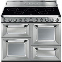Smeg Victoria 110 Stainless Steel Electric Induction Range Cooker TR4110IX