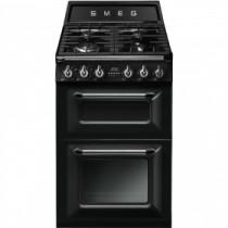 Smeg 60cm Two Cavity Traditional Victoria Black Dual Fuel Cooker TR62BL